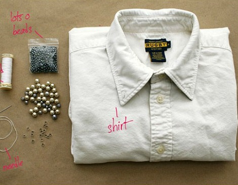 cuello camisa diy materiales