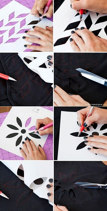 customizar camisetas espalda aire proceso