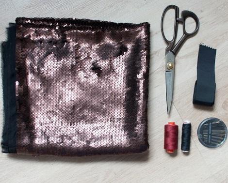 hacer falda cruzada moda lentejuelas materiales