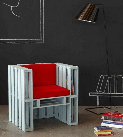 muebles faciles palets silla