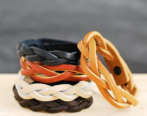 pulseras cuero trenzadas resultado