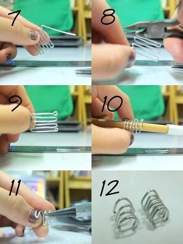 ear cuff casero materiales proceso