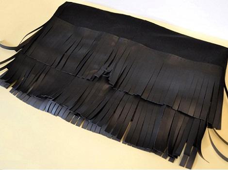 falda casera flecos proceso