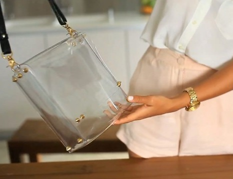 satchel bag transparente