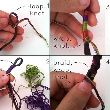 aprende paso a paso a hacer brazaletes con hilos