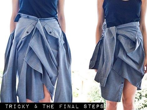anudar tu falda camisa otoño 2013