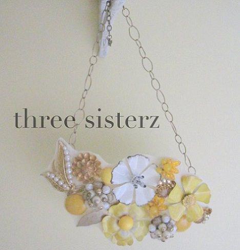 collar de moda de flores