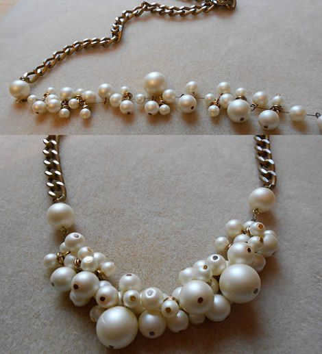 como hacer un collar de perlas resultado