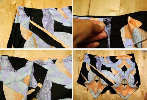 falda pantalón botón