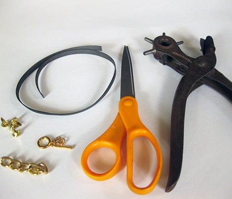 materiales pulseras de cuero