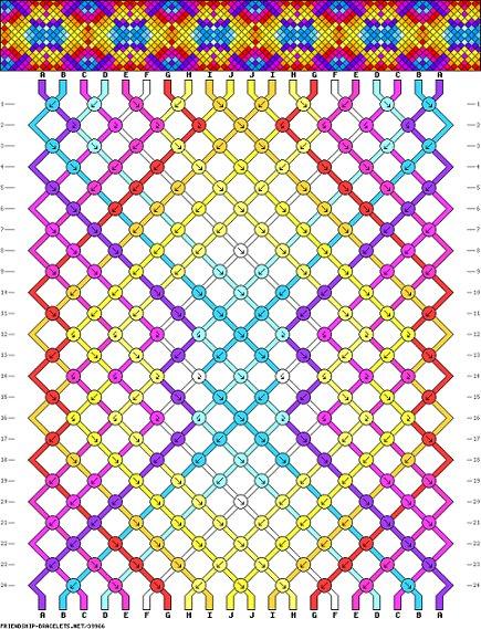 patrón pulsera amistad colores