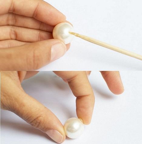 como hacer pendientes de perlas