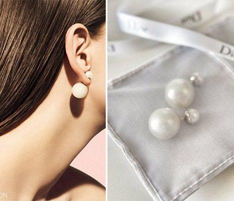 pendientes perlas dior