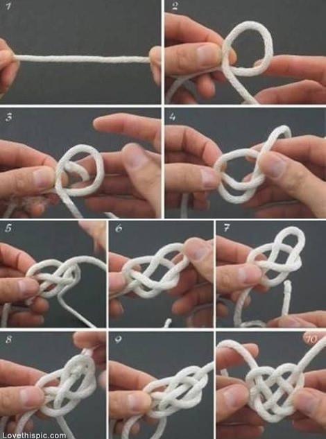 como hacer una pulsera de nudo corazón paso a paso