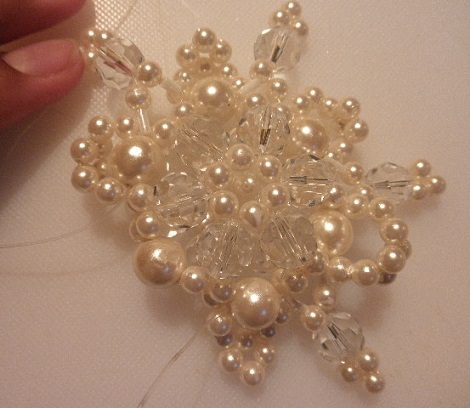 Estrella de perlas para collar