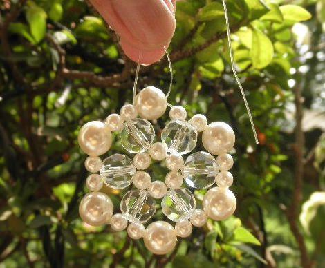 collar de perlas casero