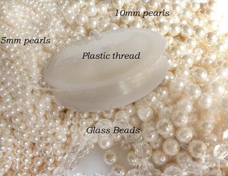 Material para hacer un collar de perlas