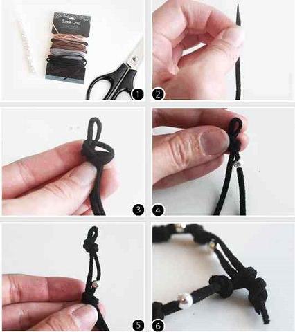 nudo simple pulsera