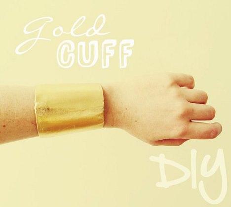 pulsera dorada reciclada